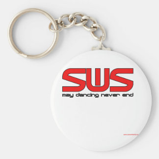 Salsa With Silvia Basic Round Button Key Ring