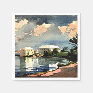 Salt Kettle, Bermuda - Winslow Homer painting Paper Serviettes