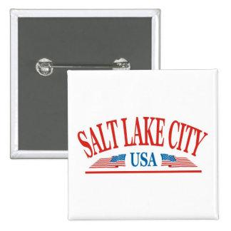 Salt Lake City 15 Cm Square Badge