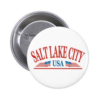 Salt Lake City 6 Cm Round Badge