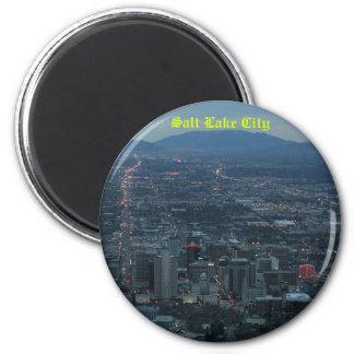 Salt Lake City 6 Cm Round Magnet