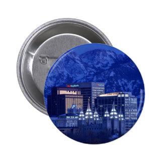 Salt Lake City Downtown Winter Skyline 6 Cm Round Badge