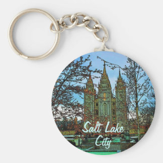 Salt Lake City Keychain
