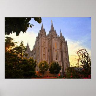 Salt Lake City, LDS Temple Poster