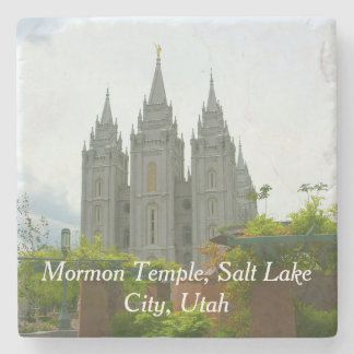 Salt Lake City Mormon Temple Stone Coaster