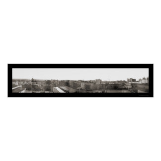 Salt Lake City Skyline Photo 1907 Poster