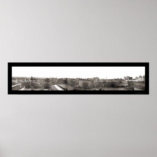 Salt Lake City Skyline Photo 1907 Posters