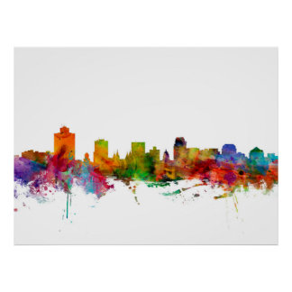 Salt Lake City Skyline Print