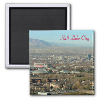 Salt Lake City Square Magnet
