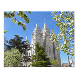 Salt Lake City Temple in Spring. Photograph