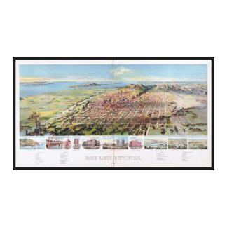 Salt Lake City, Utah (1891) Gallery Wrap Canvas