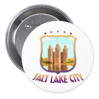 Salt Lake City Utah 7.5 Cm Round Badge