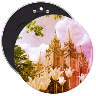 Salt Lake City, Utah Mormon Temple 6 Cm Round Badge