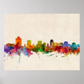 Salt Lake City Utah Skyline Cityscape Print