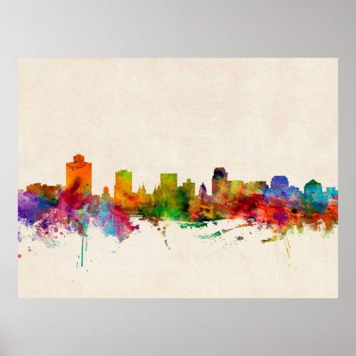 Salt Lake City Utah Skyline Cityscape Poster