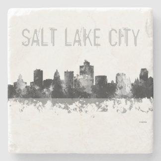 SALT LAKE CITY, UTAH SKYLINE - Stone Drinks Coaste Stone Coaster