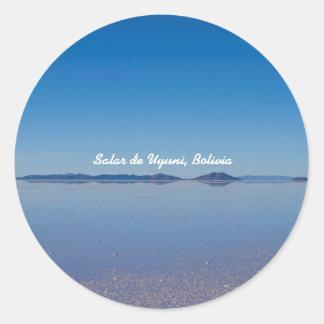 Salt Lake in Salar de Uyuni, Bolivia Classic Round Sticker