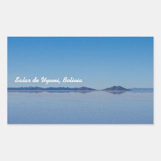 Salt Lake in Salar de Uyuni, Bolivia Rectangular Sticker