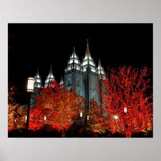 Salt Lake LDS Temple Salt Lake City Utah Poster