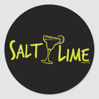 Salt / Lime Classic Round Sticker