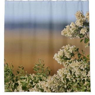Salt Marsh and saltbush flowers Shower Curtain