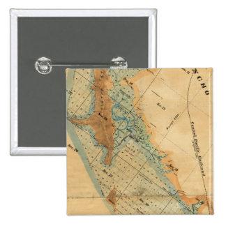 Salt marsh and tide lands map 15 cm square badge