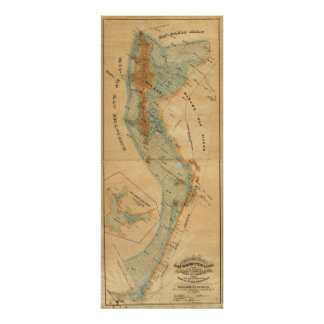 Salt marsh and tide lands map poster