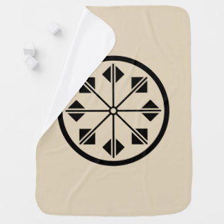 Salt name rice field pinwheel baby blanket