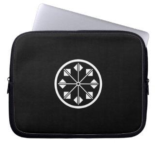 Salt name rice field pinwheel laptop sleeve