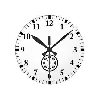 Salt name rice field pinwheel round clock