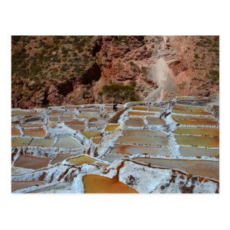 Salt Pans of Maras, Peru Postcard