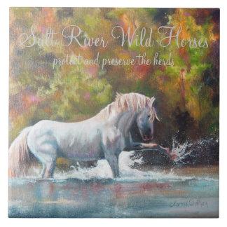 Salt River Wild Horses Ceremic Tile