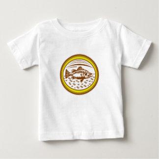 salt-water-barramundi-side-OVAL Baby T-Shirt