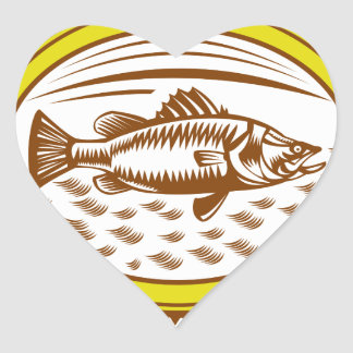 salt-water-barramundi-side-OVAL Heart Sticker