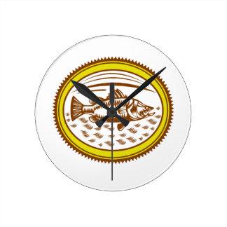 salt-water-barramundi-side-OVAL Round Clock