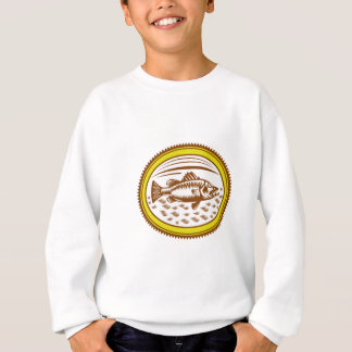 salt-water-barramundi-side-OVAL Sweatshirt