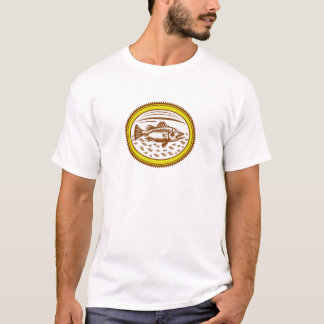salt-water-barramundi-side-OVAL T-Shirt