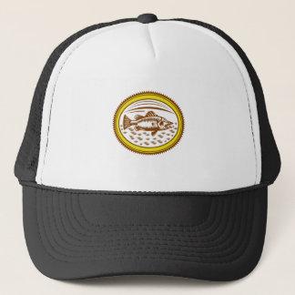 salt-water-barramundi-side-OVAL Trucker Hat