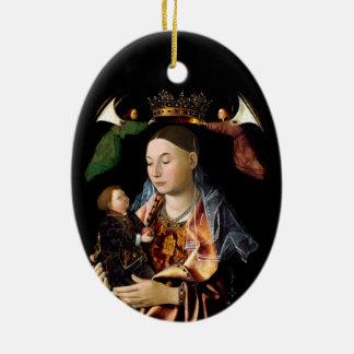 Salting Madonna and Christ Child Ceramic Ornament
