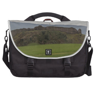 Saltire and ruins of Urquhart castle in Scotland Laptop Computer Bag