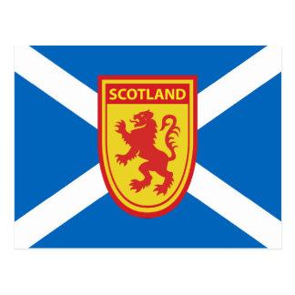 Saltire and Scotland Shield Postcard