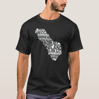 Salton Sea Word Map : Dark T-Shirt