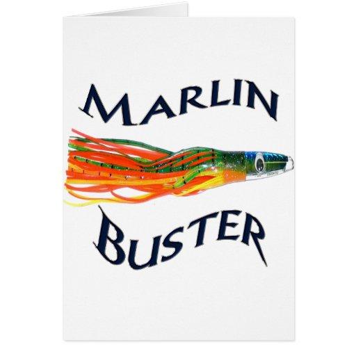 saltwater big gamefish bait for dorado and marlin greeting card