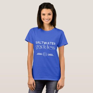 Saltwater Goddess Women's T Shirt Seashell Waves