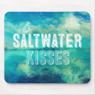 Saltwater Kisses Turquoise Water Abstract Mouse Pad