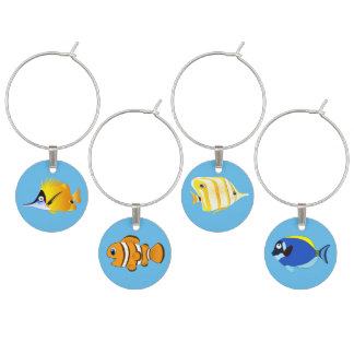 Saltwater Tropical Aquarium fish Wine Charm