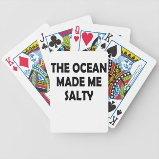 salty bicycle playing cards