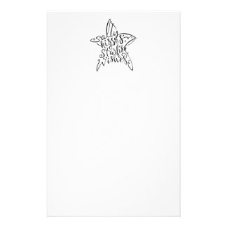 Salty Kisses and Starfish Wishes Hand Lettering Stationery