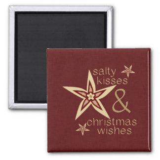 Salty Kisses Christmas Wishes Fridge Magnet