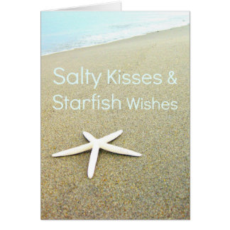 Salty Kisses & Starfish Wishes Card